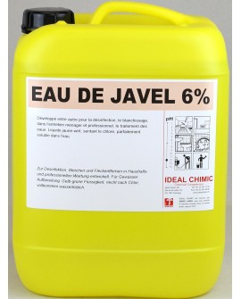 EAU DE JAVEL 6% 10 litres IDEAL CHIMIC