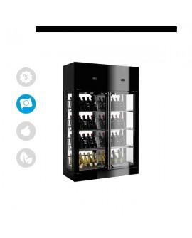 Armoire à vin WINE LIBRARY 4 côtés vitrés 336 bouteilles ENOFRIGO