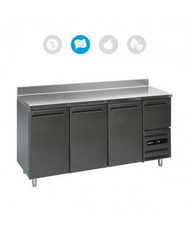Comptoir bar 3 portes + 1 tiroir neutre L4 Mercatus