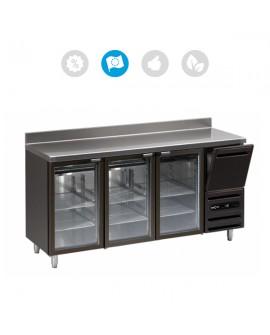 Comptoir bar 3 portes vitrées + 1 tiroir neutre L4 Mercatus