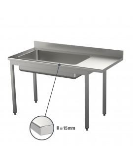 Table de déboîtage inox 15/10 ème pieds carrés 4X GN 1/1 1800 mm PVLaboConcept