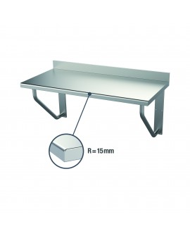 Table suspendue inox adossée 1800 mm PVLaboConcept