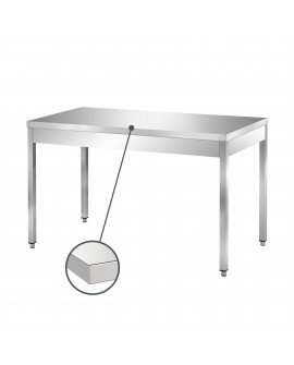 Table inox centrale 1300mm PVLaboConcept