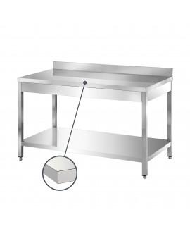Table adossée inox avec étagère 1800 mm PVLaboConcept