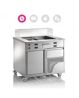 TeppTwwin module de cuisson et refroidissement avec aspiration intégrée CASTA