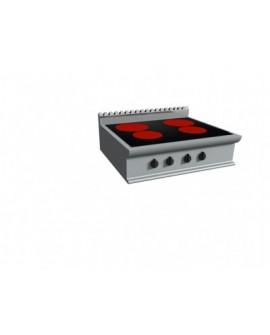 Fourneau électrique vitrocéramique 4 zones à poser gamme Lady 900 CASTA