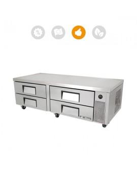 Soubassement réfrigéré TRCB-72 4 tiroirs TRUE